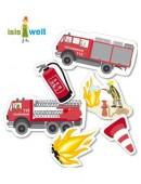 24-teiliges XXL-Konfetti Feuerwehr