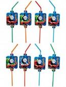 8 Trinkhalme Thomas die kleine Lokomotive