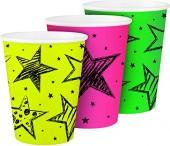 6 Becher in Neon-Farben