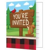8 Einladungen + Umschläge Lum-Bear Jack
