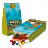 """8 Partytüten """"Dinos und T-Rex"""" aus Papier"""