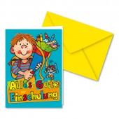 """Glückwunsch-Karte """"Alles Gute zur Einschulung"""" - für Jungen"""