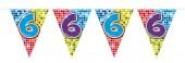 Wimpelkette für den 6. Geburtstag