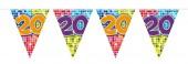 Wimpelkette für den 20. Geburtstag