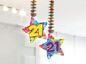Hängende Deko mit Zahl 21