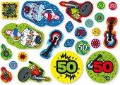 69-teiliges XXL Konfetti Super - Ich bin 50!
