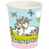8 Party-Becher Einhorn