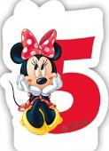 Zahlenkerze #5 - Minnie Maus