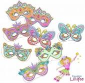 8 Partymasken Prinzessin Lillifee