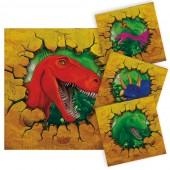16 Servietten Dinos und T-Rex