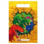 6 Partytüten Dinos und T-Rex