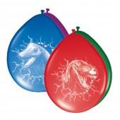 6 Luftballons Dinos und T-Rex