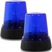 Polizei-Warnlicht in Blau
