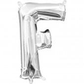 Folienballon Buchstabe F - in Silber