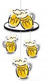 4x Hängedekoration Bierfest