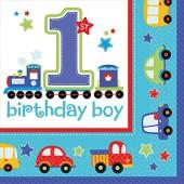 16 Servietten 1. Birthday - Boy