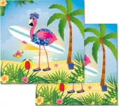 20 Servietten Flamingo