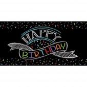 Tischdecke Black Happy Birthday