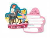 6 Einladungskarten Bibi und Tina