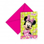 12-teiliges Einladungskarten-Set Minnie Mouse