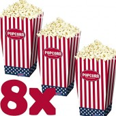 8 Popcorn-Boxen Amerika / USA