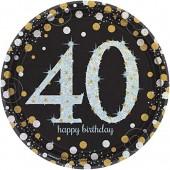 8 Teller 40. Geburtstag - Sparkling Celebration