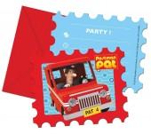 6 Einladungen Postbote Pat