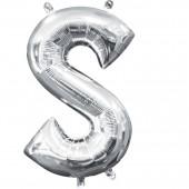 Folienballon Buchstabe S - in Silber