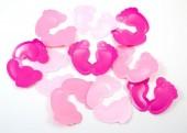 XXL-Konfetti Füße in Rosa