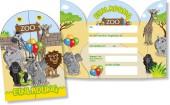 8 Einladungskarten Zoo & Zootiere