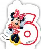 Zahlenkerze #6 - Minnie Maus