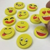 12 Radiergummis Smileys