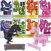 8 Dino 3D-Puzzle