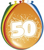 8 Luftballons Zahl 50
