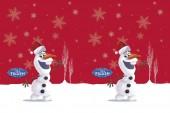 Tischdecke Frozen: Olaf - Winterparty