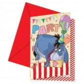 6 Einladungen Winnie Pooh Alphabet
