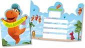 8 Einladungskarten Kleiner Drache Kokosnuss
