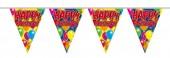 """dreieckige Luftballons-Wimpelkette """"Happy Birthday"""""""