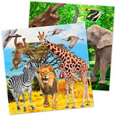 20 Servietten Zoo und Safari