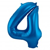 Folienballon Zahl 4 - in Blau