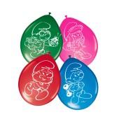 8 Luftballons Schlümpfe