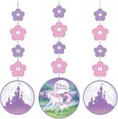 3 Hänge-Dekorationen Fantasy Einhorn