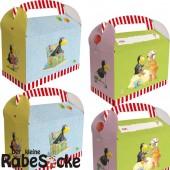 6 Geschenkboxen kleiner Rabe Socke