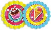 8 Teller Cupcakes
