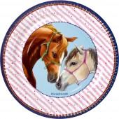 8 Teller Pferdefreunde