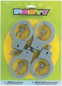 4 Handschellen mit Schlüsseln