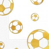 15 Servietten Fußball - Gold