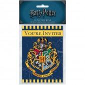 8 Einladungskarten Harry Potter