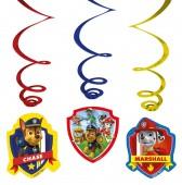 6 Deko-Wirbel Paw Patrol
