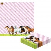 20 Servietten Pferdefreunde